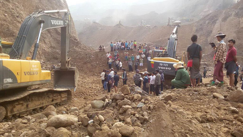 27 de morţi, după prăbuşirea unei mine de jad în Myanmar