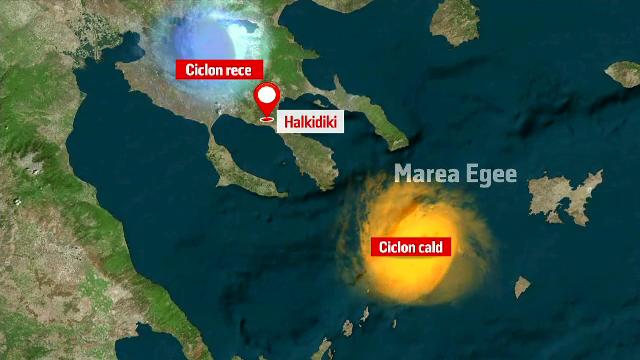 ANIMAȚIE GRAFICĂ. Cum s-a produs ciclonul devastator din Grecia. Explicația specialiștilor