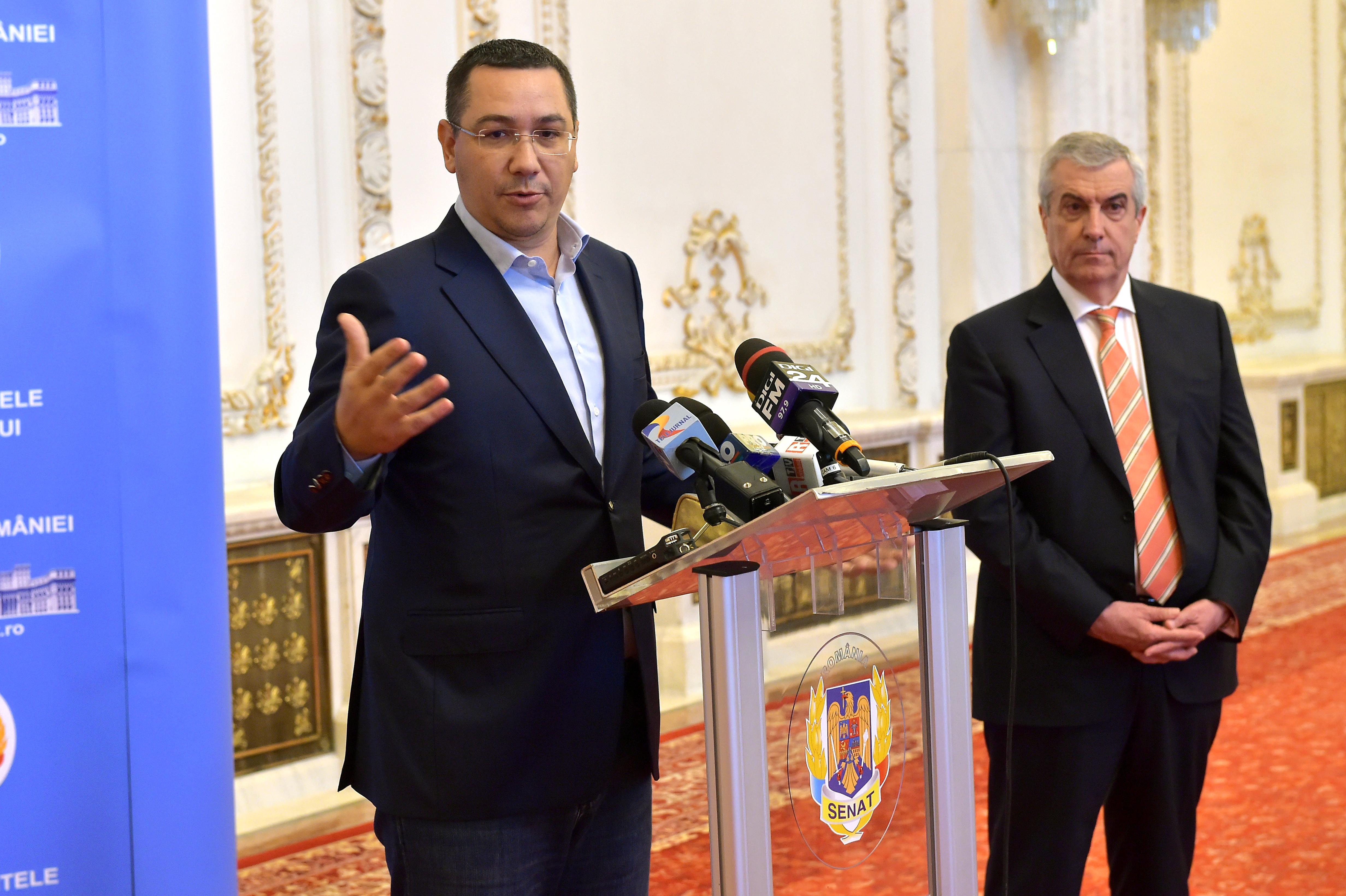 """Partidele lui Ponta și Tăriceanu nu vor să mai fuzioneze: """"Diferențe doctrinare"""""""