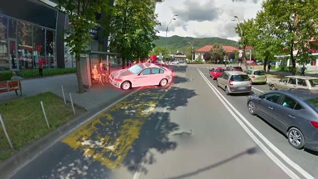 ANIMAȚIE GRAFICĂ. Cum s-a petrecut accidentul din Baia Mare în care un șofer a zdrobit doi tineri care așteptau autobuzul