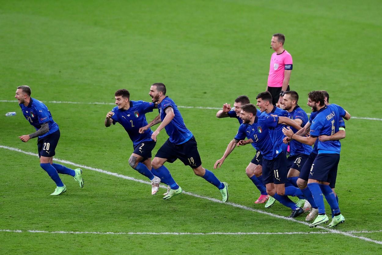 Italia, prima finalistă la EURO 2020. A învins Spania la loviturile de departajare