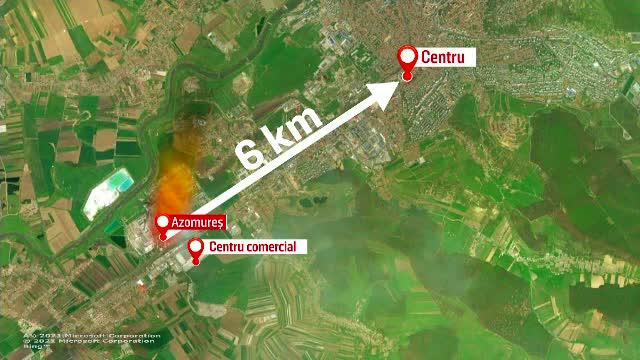 Filmul exploziei de la combinatul chimic Azomureș. Oamenii au vrut să părăsească de urgență orașul