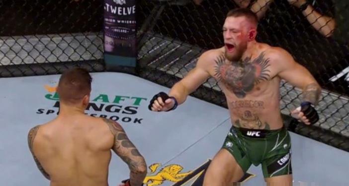Conor McGregor și-a rupt piciorul în prima rundă cu Dustin Poirier. VIDEO cu momentul