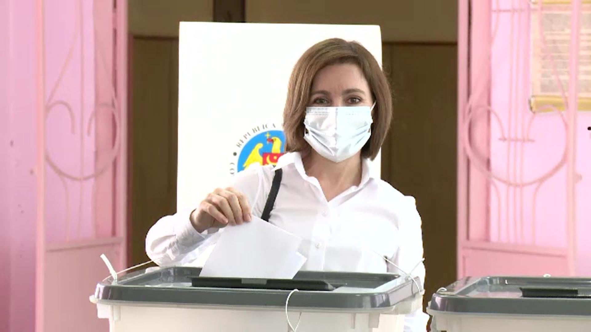 Victorie categorică pentru partidul Maiei Sandu la alegerile parlamentare din R. Moldova