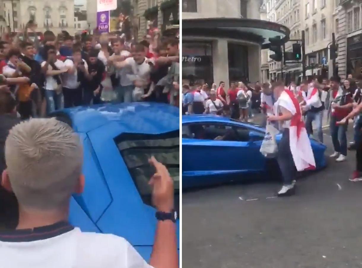 VIDEO. Reacția revoltătoare a fanilor englezi când le-a ieșit în cale un șofer cu o mașină italiană