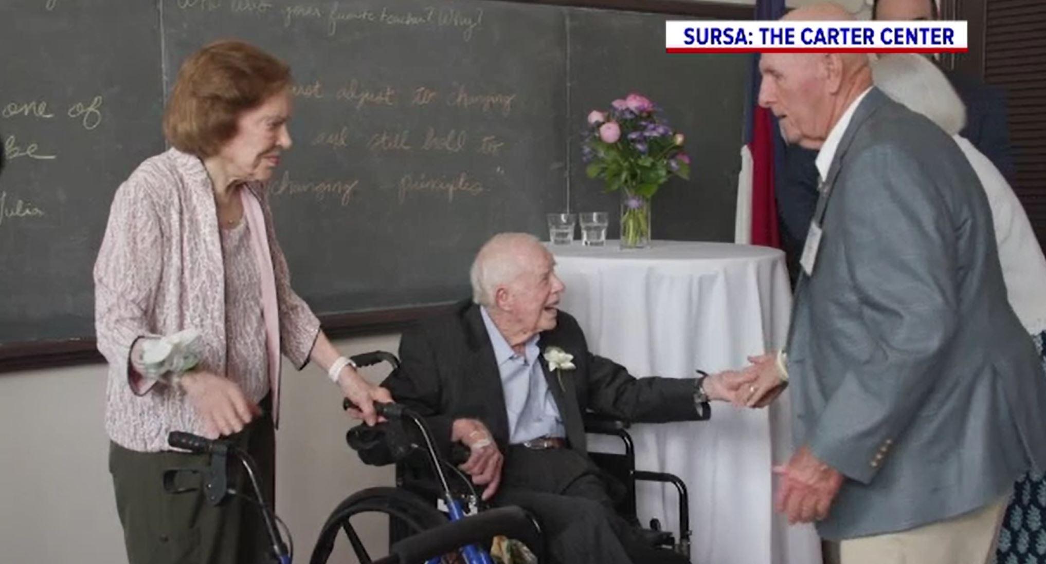 Fostul preşedinte american Jimmy Carter și soția sa au sărbătorit nunta de diamant