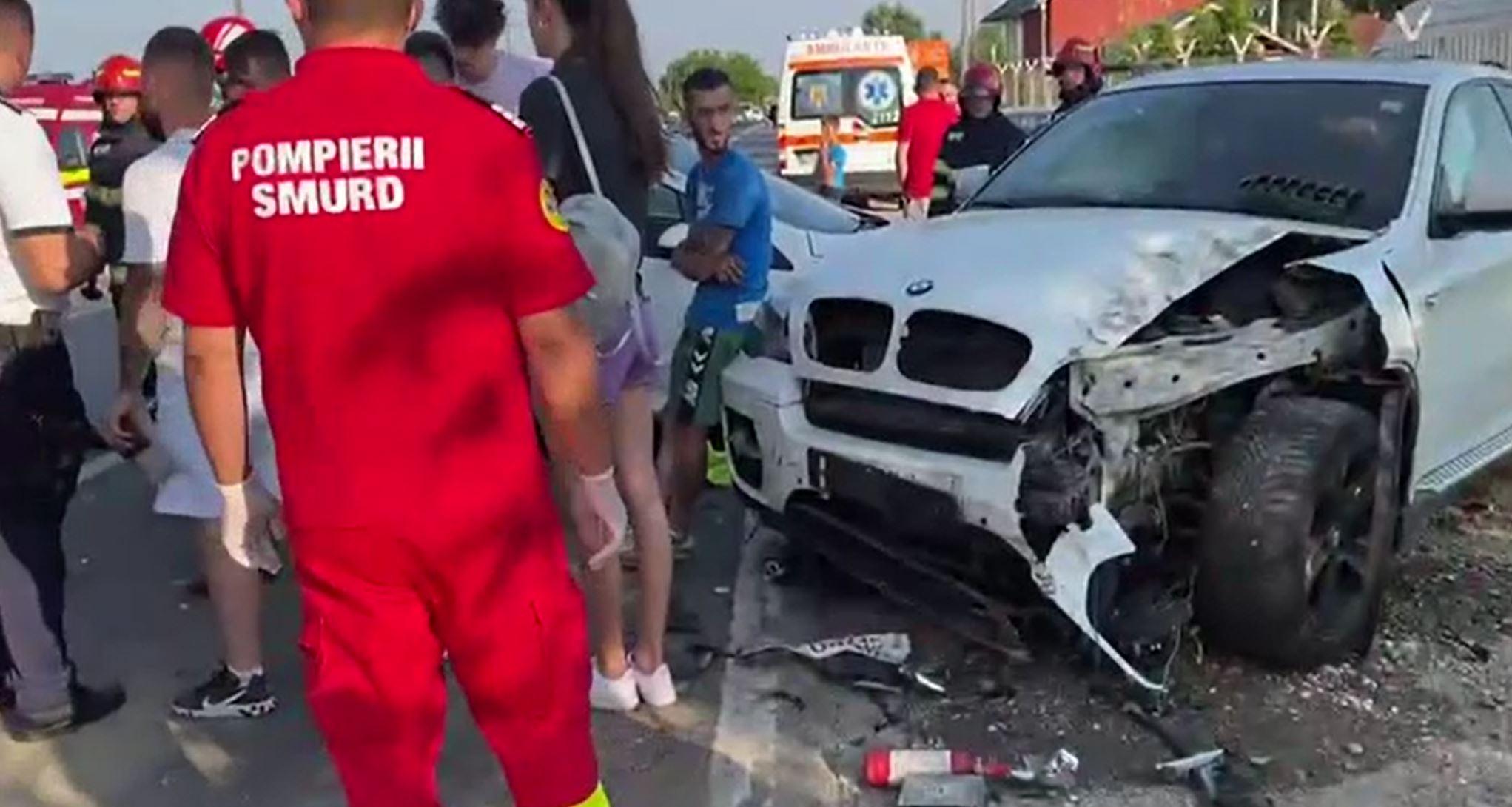 Accident grav în Dâmbovița, din cauza unui tânăr care a pierdut controlul volanului