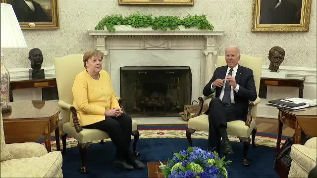 Joe Biden, întâlnire cu Angela Merkel la Casa Albă. S-au declarat
