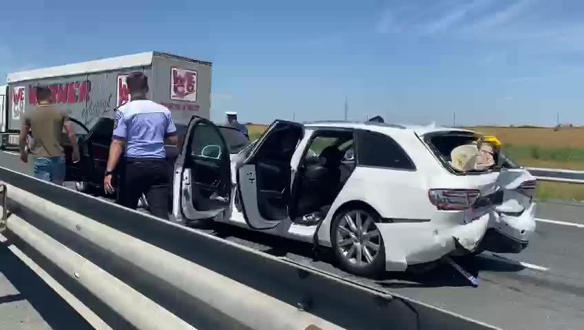Încă un accident rutier s-a petrecut pe A2, pe sensul Constanța-București. VIDEO