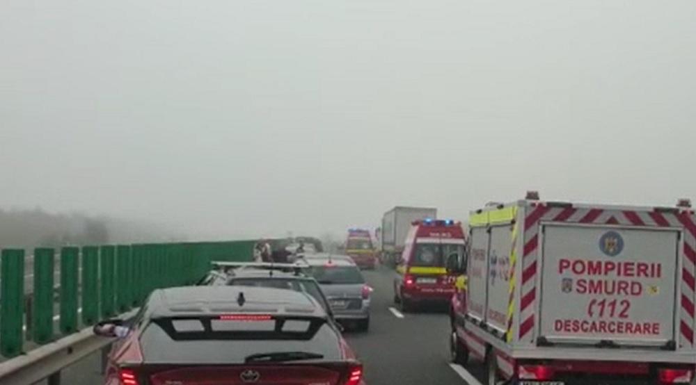 Bilanțul carambolului de pe Autostrada Soarelui: 24 de persoane rănite. Cinci copii au ajuns la spital