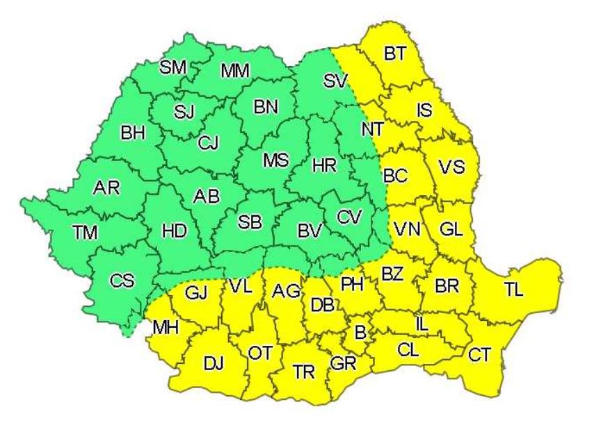 ANM: Cod galben de caniculă în 24 de judeţe din sudul, estul şi sud-vestul ţării, duminică şi luni