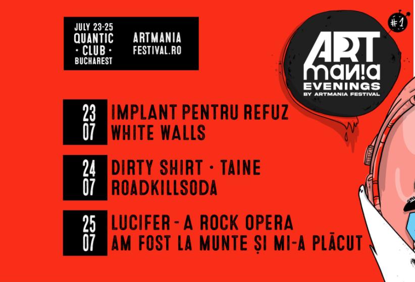 ARTmania Evenings 2021. Trei zile de concerte în București cu cele mai tari trupe românești