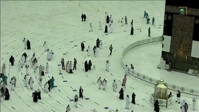 Pelerinajul de la Mecca, organizat anul acesta doar cu 60.000 de persoane, toate vaccinate