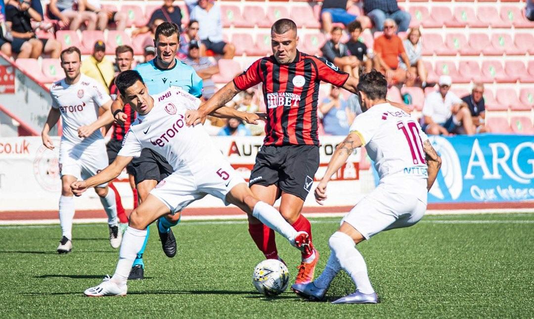 CFR Cluj a învins Lincoln Red Imps din Gibraltar, după ce a fost condusă la pauză