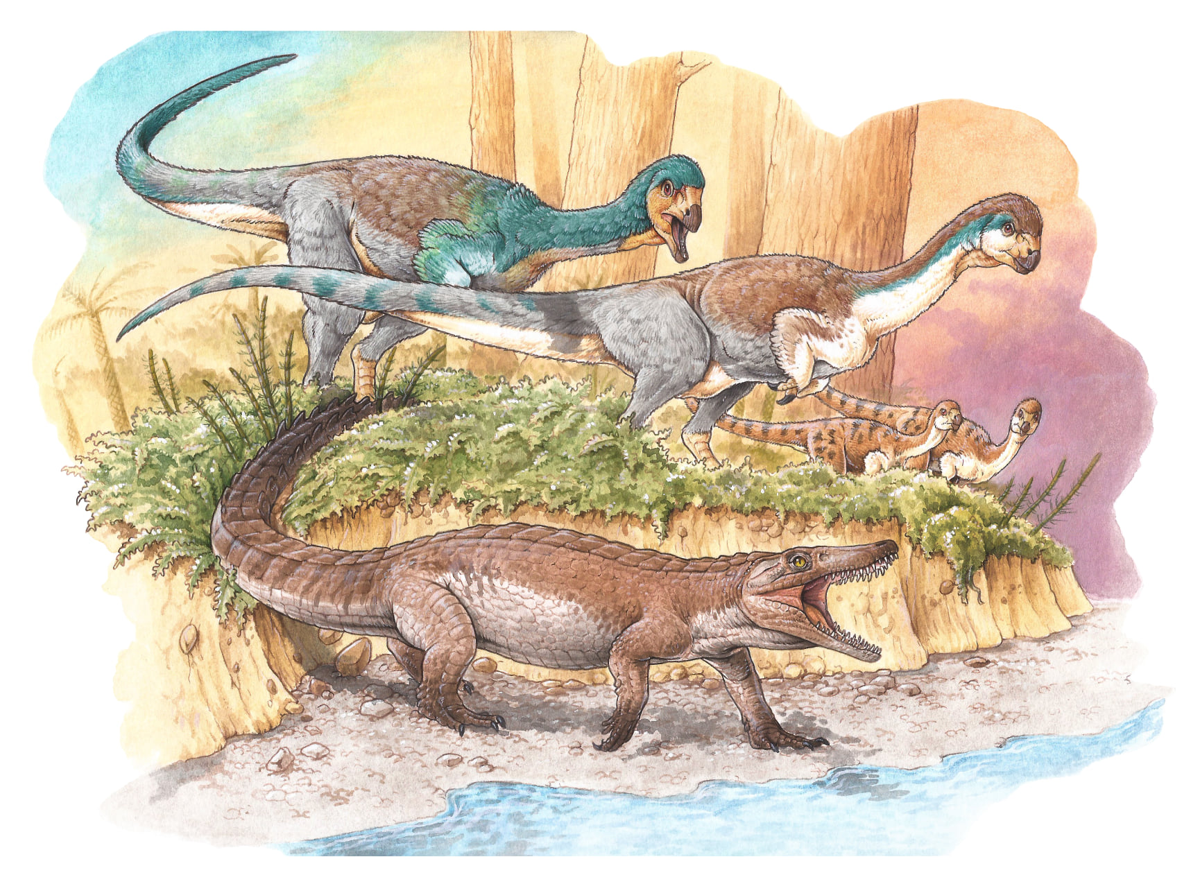 A fost descoperită o fosilă veche de 150 de milioane de ani. Aparține unui ''bunic'' al crocodilului. FOTO