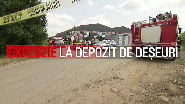 Explozie la o hală de reciclare din Popești-Leordeni. 11 persoane au fost rănite