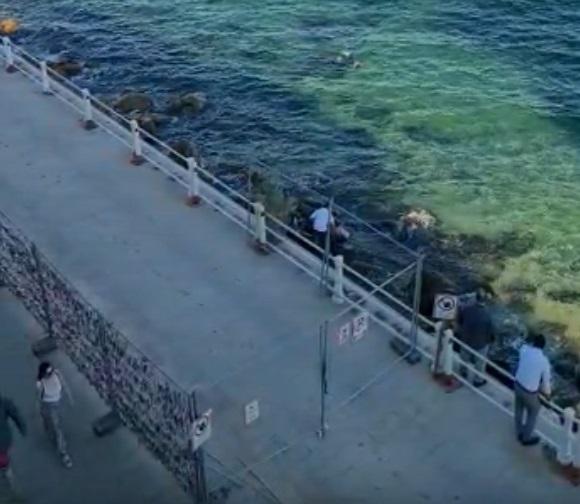 Un bărbat a fost adus de mare la mal, în zona Cazinoului Constanța. Salvatorii îl resuscitează
