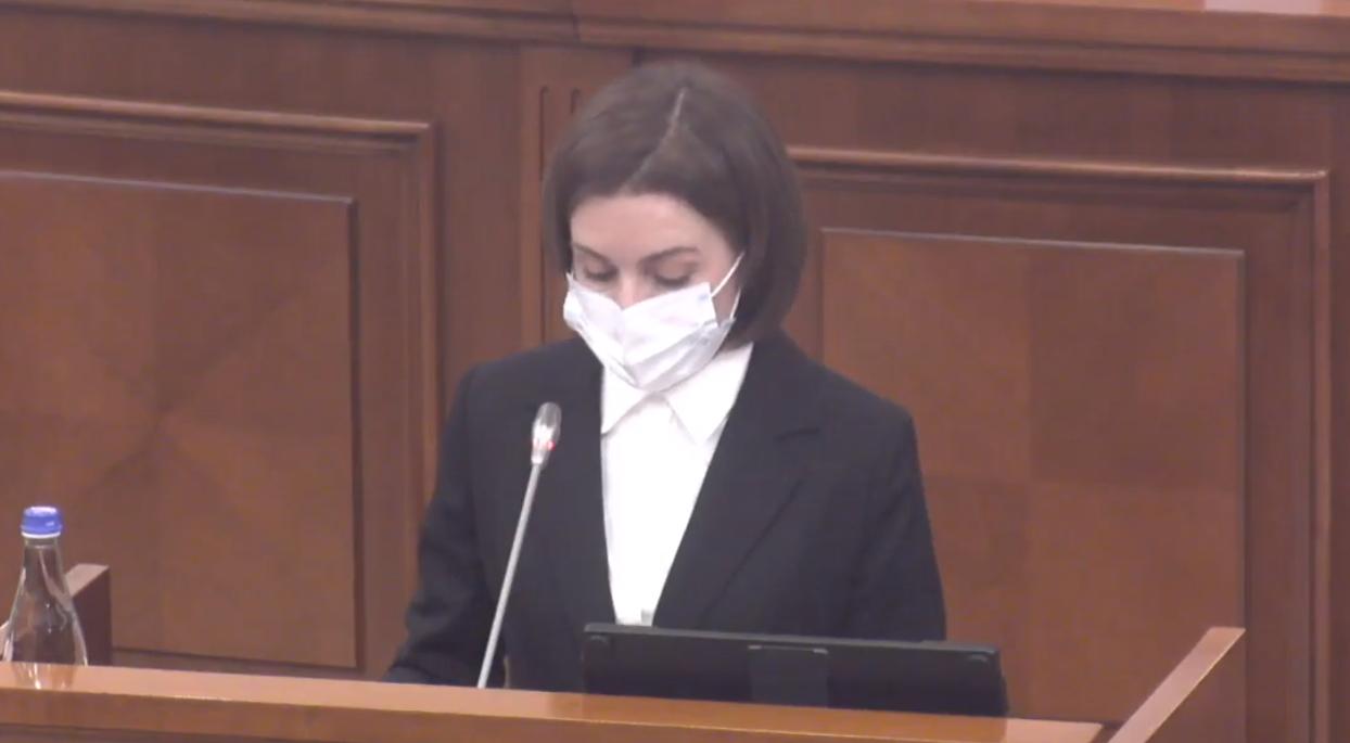 """Maia Sandu, în prima şedinţă a noului Parlament din Chişinău: """"Este timpul unei adevărate revoluții"""""""