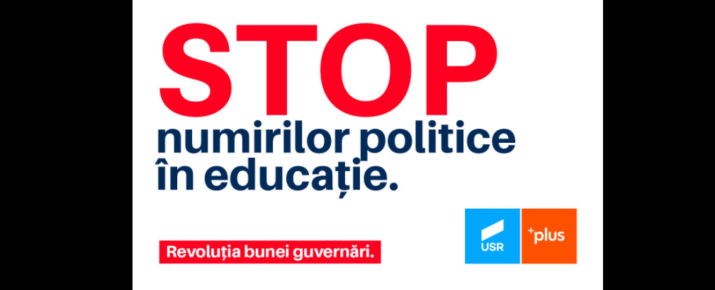 USR vrea sesiune extraordinară pentru Legea privind depolitizarea directorilor de şcoli