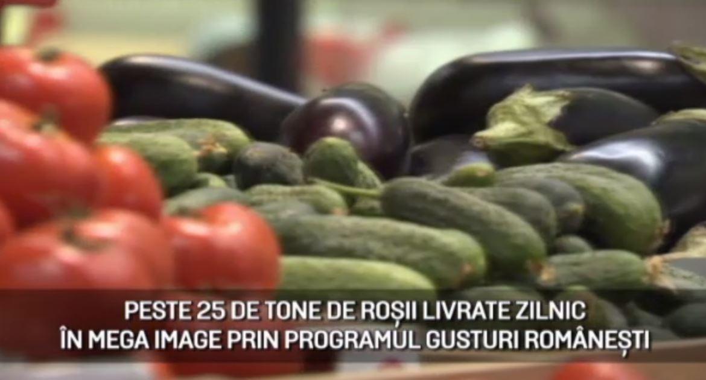 "(P) Magazinele Mega Image, aprovizionate cu legume proaspete prin programul ""Gusturi românești de la gospodari"""