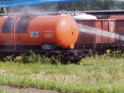 Pericolul de explozie din gara Remetea Mare, inlaturat. Traficul reluat