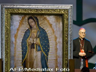 Icoana Maicii Domnului din Guadalupe, in procesiune la Bistrita
