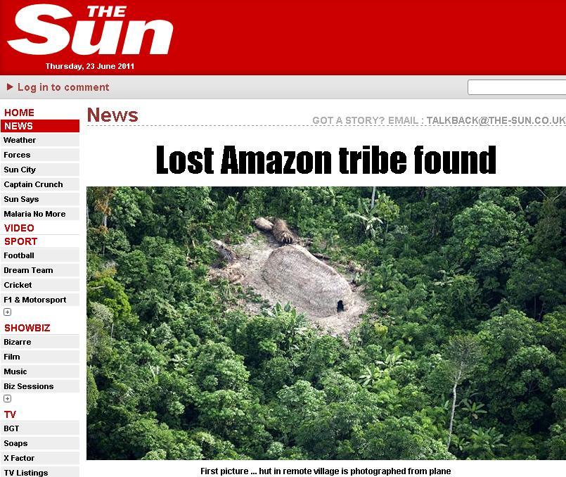 Rupti de lumea civilizata. Un alt trib, gasit langa Peru.Cum au reactionat la vederea unui elicopter