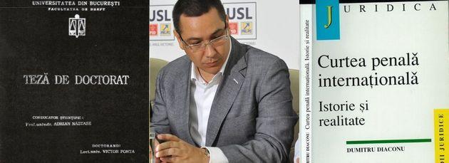 Cazul acuzatiilor de plagiat la adresa lui Victor Ponta.Analiza pe text Gandul: doctoratul VS cartea