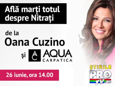 (P) Oana Cuzino a vorbit cu Jean Valvis despre cat de sanatoasa este apa consumata zilnic. VIDEO