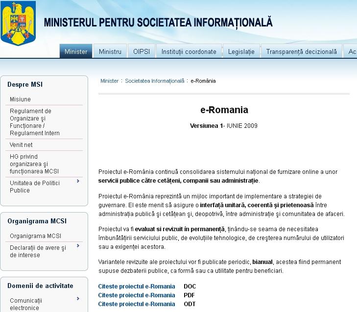 eRomania 2, cel mai scump portal facut vreodata in Romania, va fi lansat cu intarzieri de cativa ani