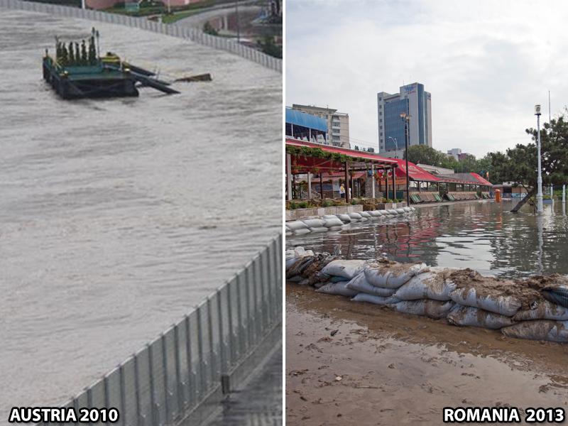 Ungurii s-au pregatit de inundatii cu diguri mobile de 4 mil. de euro. Romanii invoca divinitatea