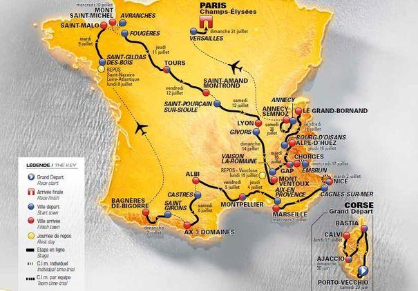 TURUL FRANTEI 2013. Programul complet pentru TOUR DE FRANCE 2013 la editia cu numarul 100