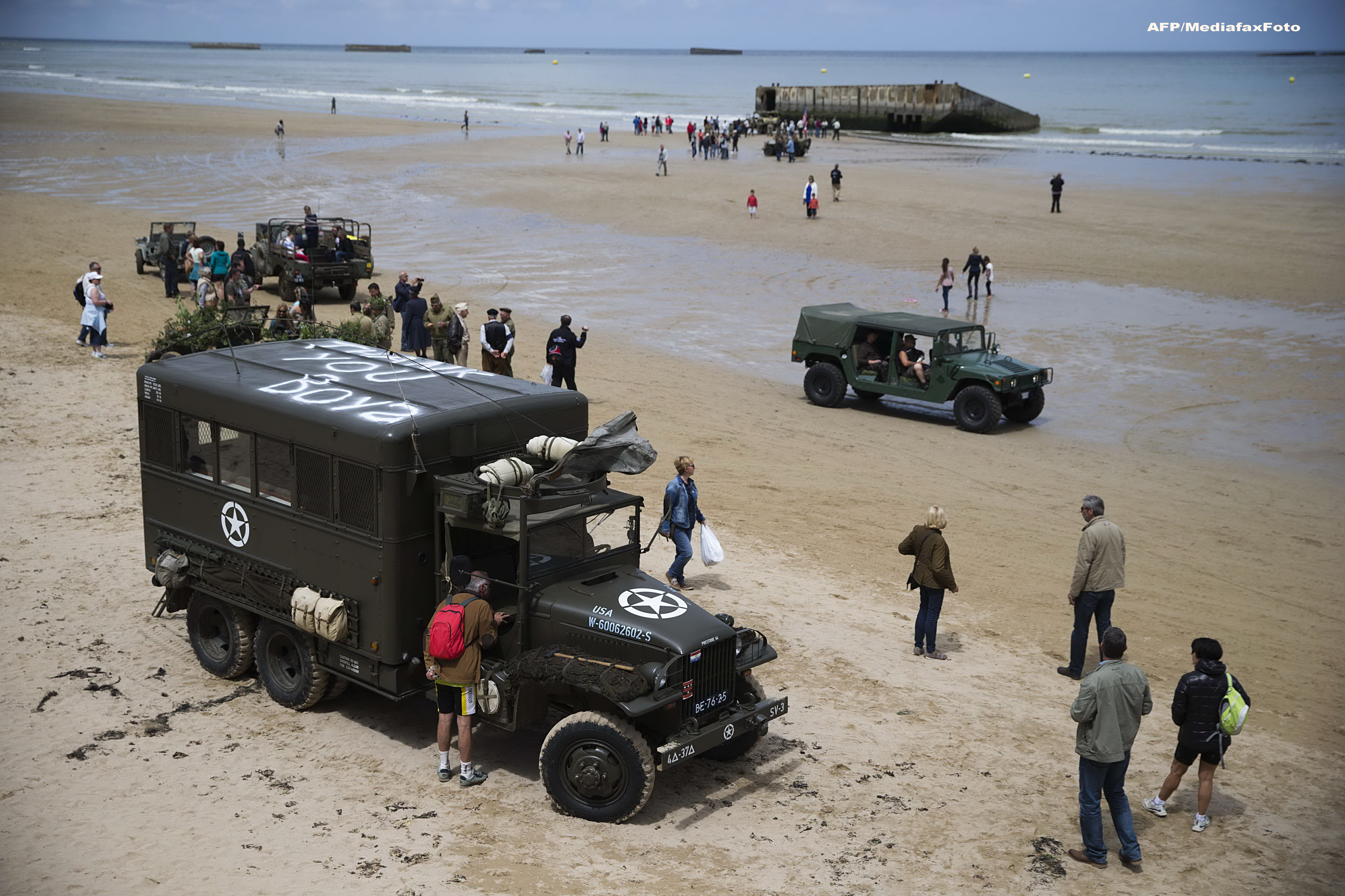 Europa comemoreaza 70 de ani de la debarcarea din Normandia. 20 de sefi de stat si de guvern participa la ceremonii