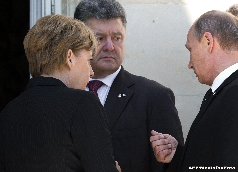 Ceremoniile dedicate Debarcarii din Normandia au provocat primul contact direct intre noul presedinte al Ucrainei si Putin