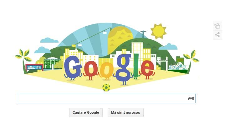 Campionatul Mondial de Fotbal 2014. Google sarbatoreste inceperea campionatului printr-un doodle