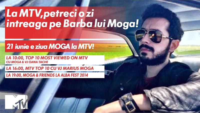 La MTV, petreci pe barba lui MOGA in weekend! O zi intreaga alaturi de artistul momentului: Marius Moga!