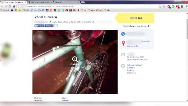 Si-a gasit bicicleta furata la vanzare pe internet si a organizat un flagrant. Ce a urmat cand s-a intalnit cu