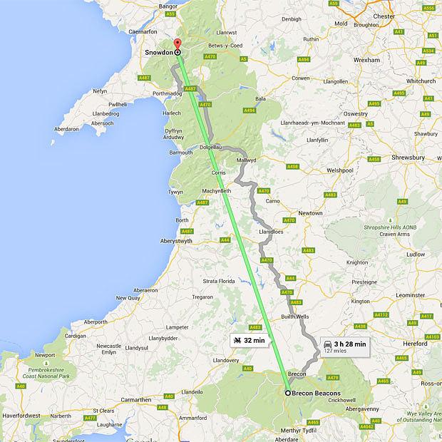 Cea mai rapida metoda de a calatori in Marea Britanie. Traseul surprinzator sugerat de Google Maps