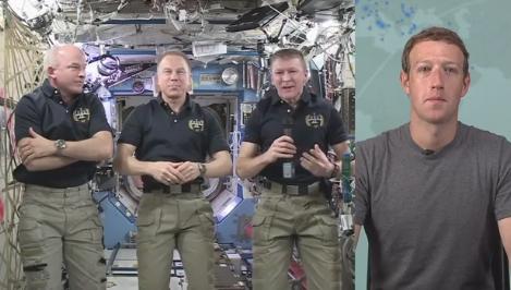 Mark Zuckerberg, LIVE cu astronautii de pe Statia Spatiala Internationala. Conversatia urmarita de 3 milioane de oameni