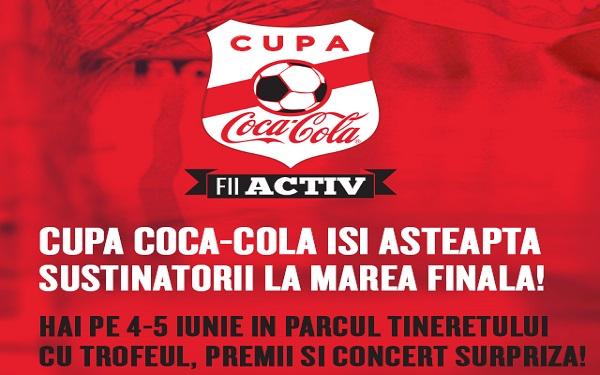 (P) Finalele Cupei Coca-Cola aduc in weekend in Parcul Tineretului pasiunea pentru fotbal, un concert Smiley si Happy Moves