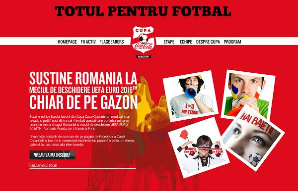 (P) Cupa Coca-Cola 2016 si-a desemnat finalistii, care vor fi in tribune la EURO, la meciul Romania-Elvetia