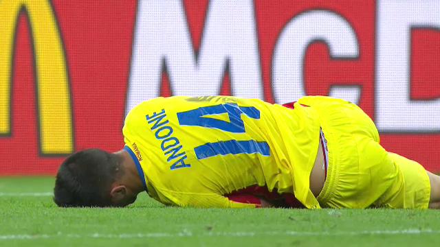 UEFA EURO 2016. FRANTA - ROMANIA. Florin Andone cere penalty in minutul 37