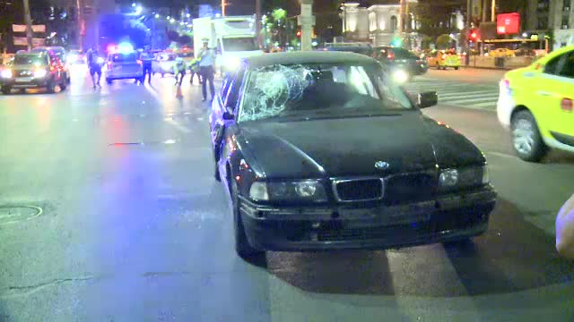 Om al strazii, ranit grav intr-un accident produs in centrul Bucurestiului. Victima ar fi traversat prin loc nepermis