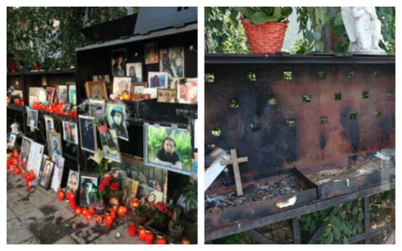 Altarul victimelor Colectiv, vandalizat
