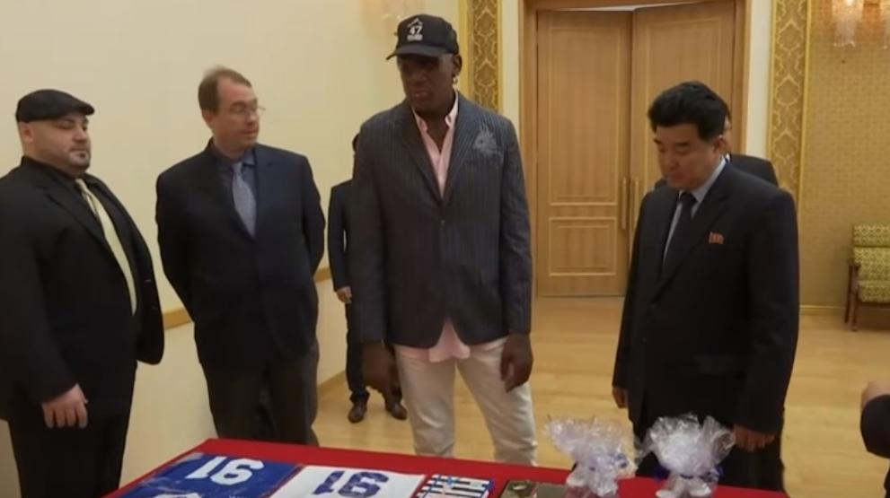 Cadoul facut de fostul jucator NBA Dennis Rodman lui Kim Jong Un in Coreea de Nord