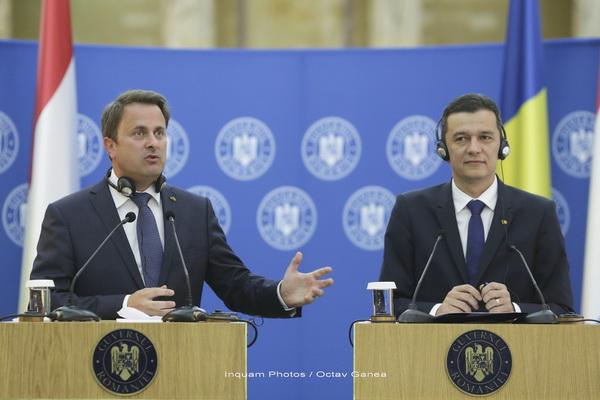Premierul Luxemburgului s-a intalnit cu Grindeanu: E greu sa convingi un investitor din tara mea sa vina maine la Bucuresti