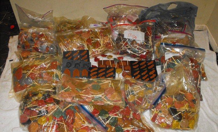 Politistii americani au confiscat bomboane in valoare de un milion de dolari. Ce contineau cele 270 de kg de dulciuri. FOTO
