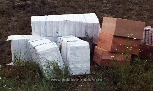 Focuri de arma la frontiera pentru oprirea unor contrabandisti de tigari. Politistii din Botosani au gasit 22.500 de pachete
