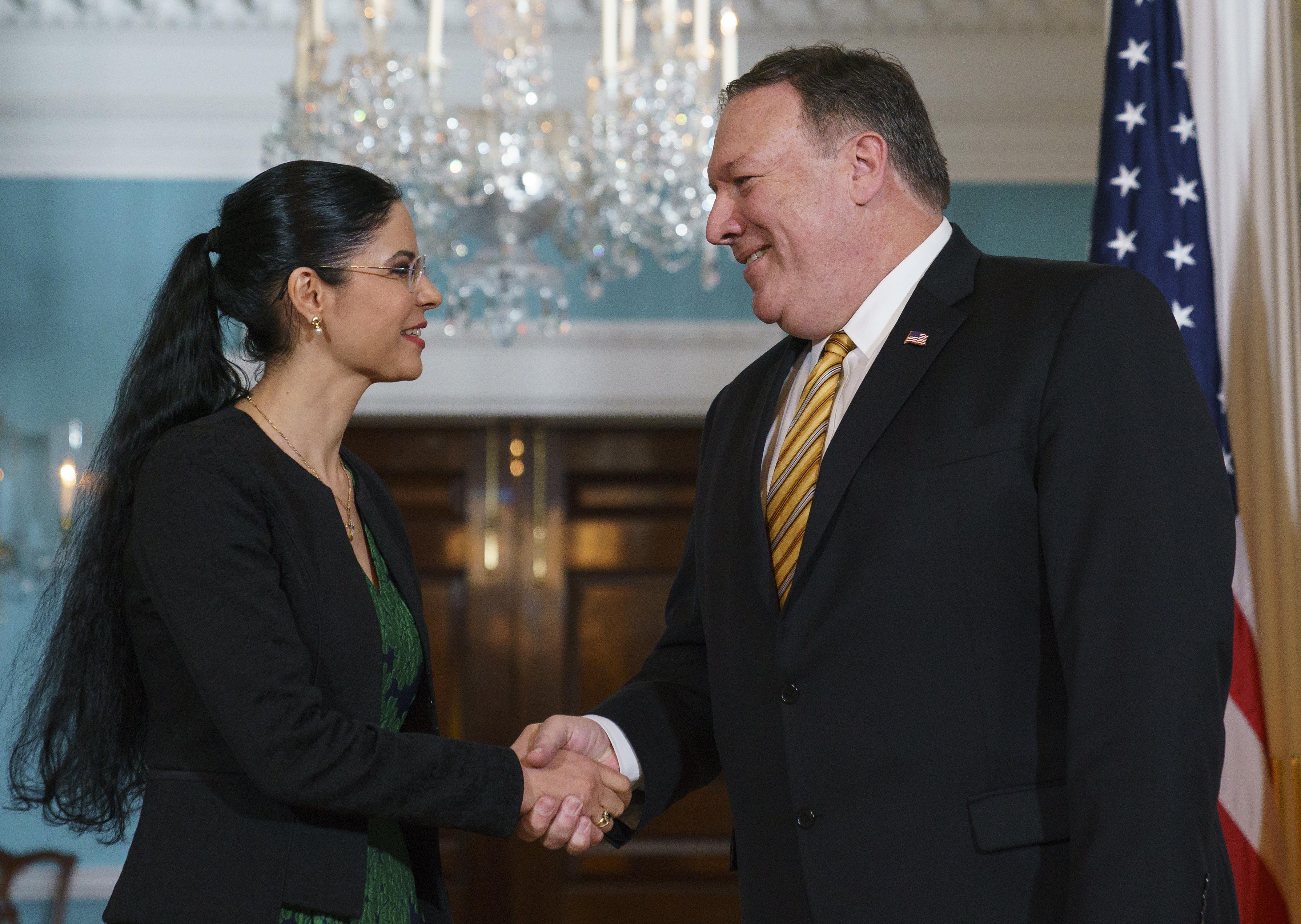 Vicepremierul Ana Birchall s-a întâlnit cu secretarul de stat american Mike Pompeo