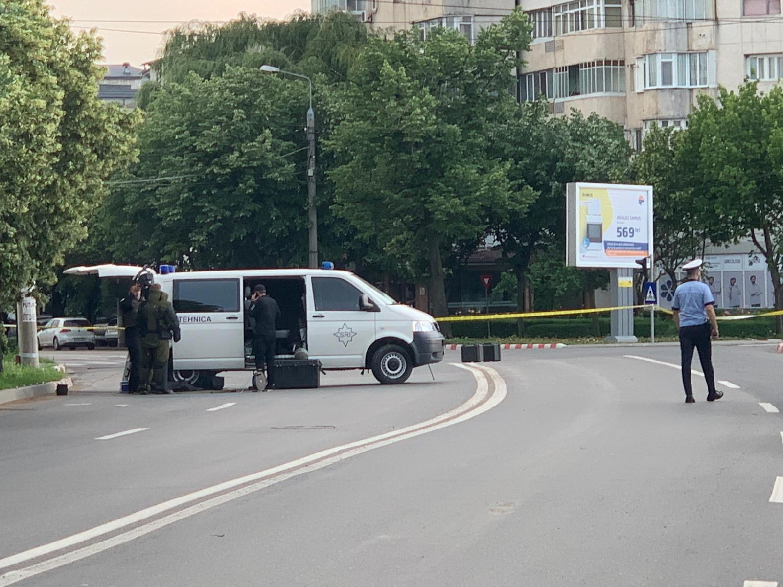 Un troler gol a declanșat o alertă în Focșani. Lucrători ai SRI au intervenit